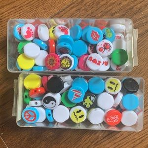 Flat Plastic Beads with various designs